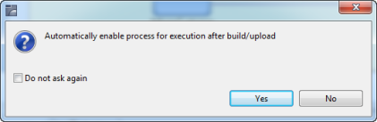 automatically enable the process for execusion