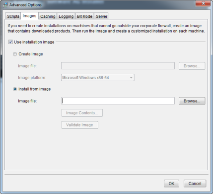 Installer Advanced option