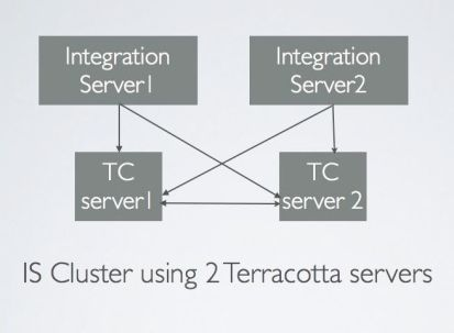 IS cluster with 2 terracotta